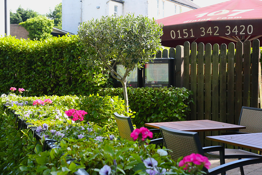 107 Dining Room   Outside. 107 Dining Room   One of the finest restaurants in Heswall on the